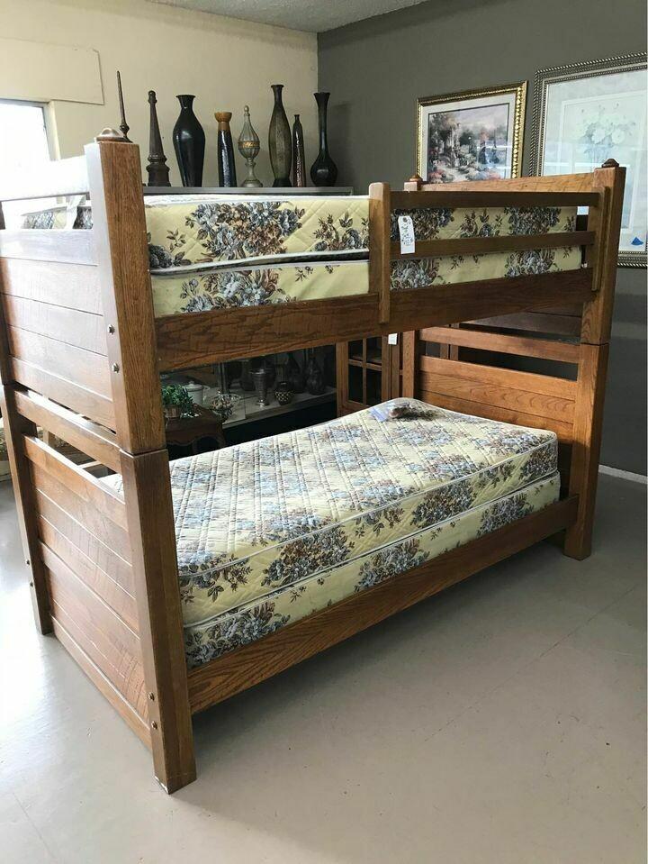 Oak Bunk Bed Set