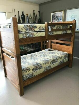 Oak Bunk Bed Set