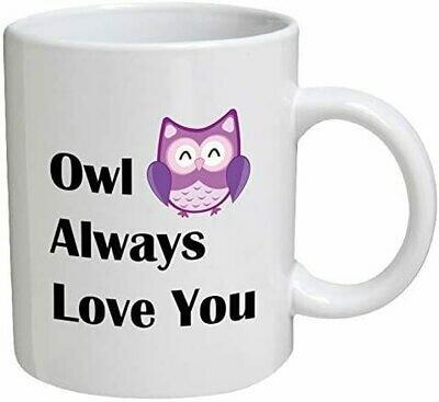 Owl Always Love You 15 oz Ceramic Mug - White Color