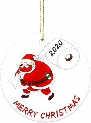 2020 Christmas Circle ceramic Ornament