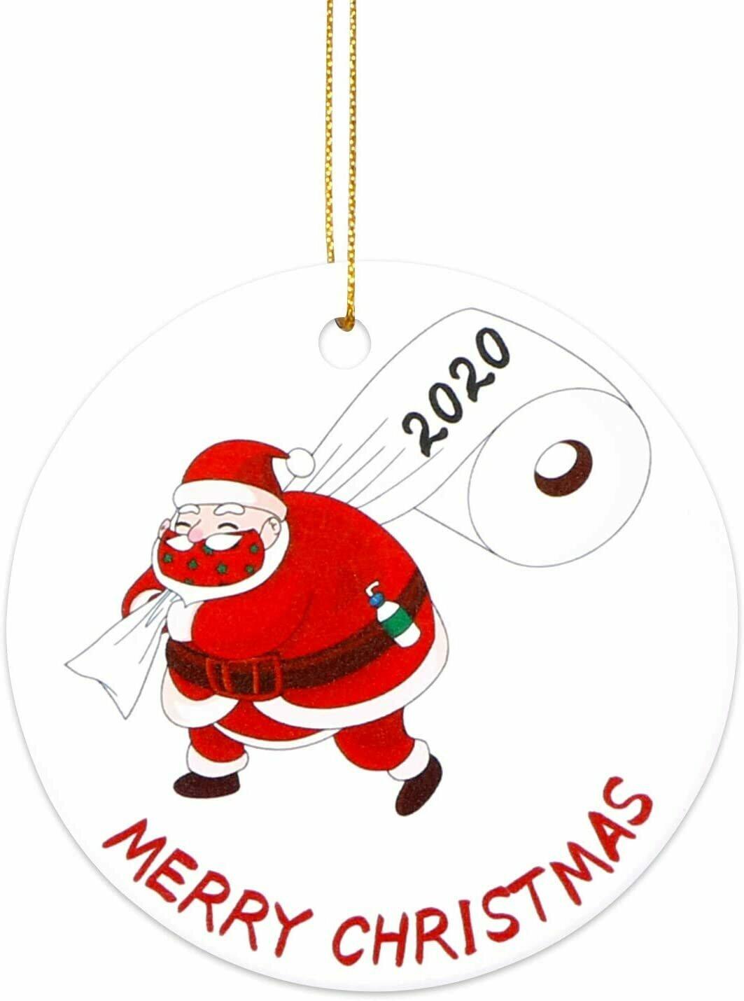 2020 Christmas Circle ceramic Ornament