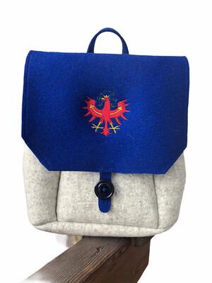 Rucksack aus Filz mit Tiroler Adler