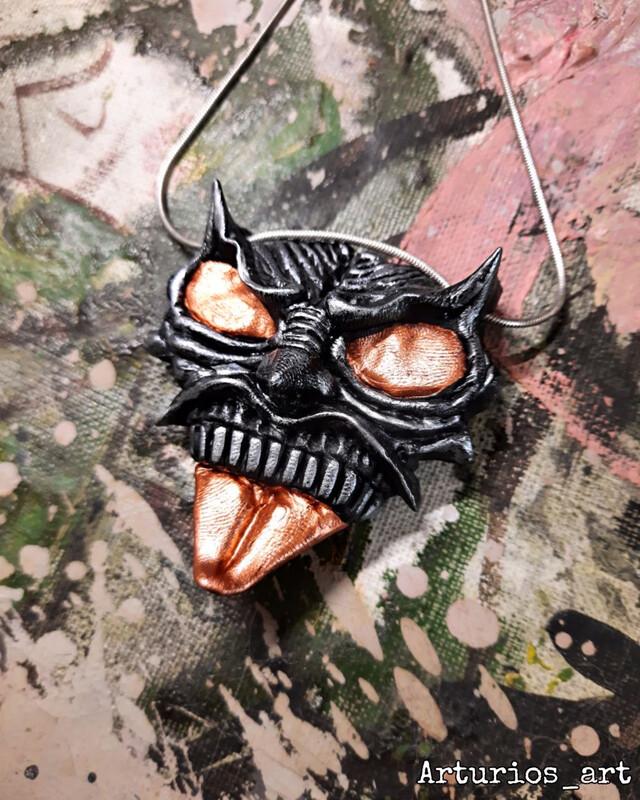 Devil face pendant