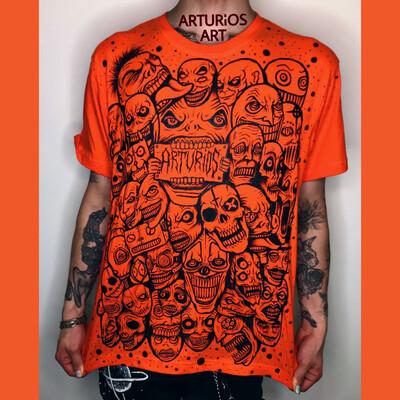Art TV Arturios-Art | Orange T-shirt