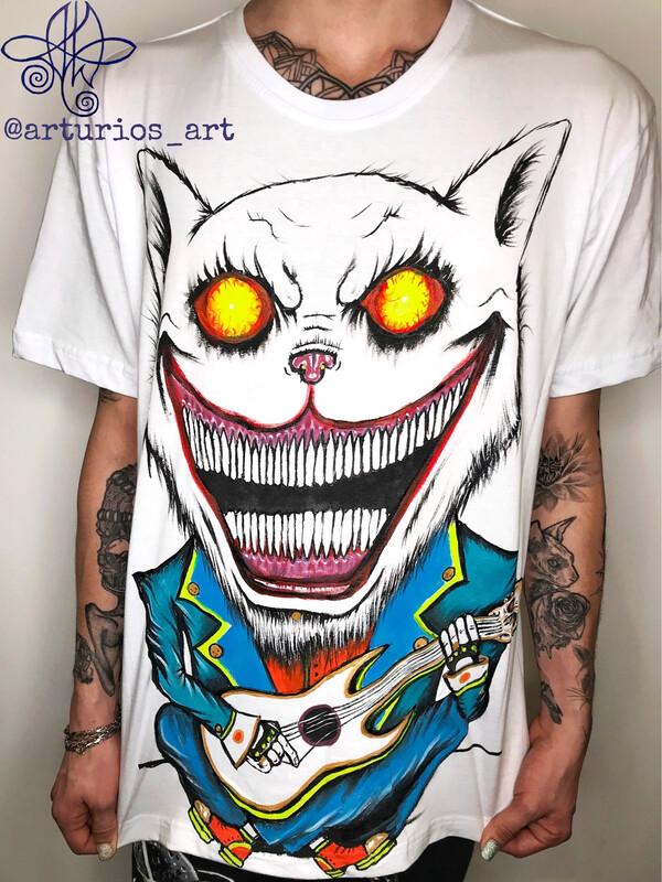 Happy cat | White T-shirt