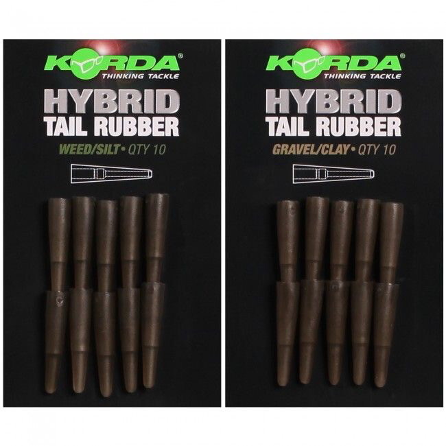 KORDA HYBRID TAIL RUBBER WEED/SILT