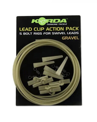 KORDA Lead Clip Action Pack Clay