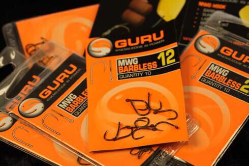 GURU MWG Barbless Hooks size 14