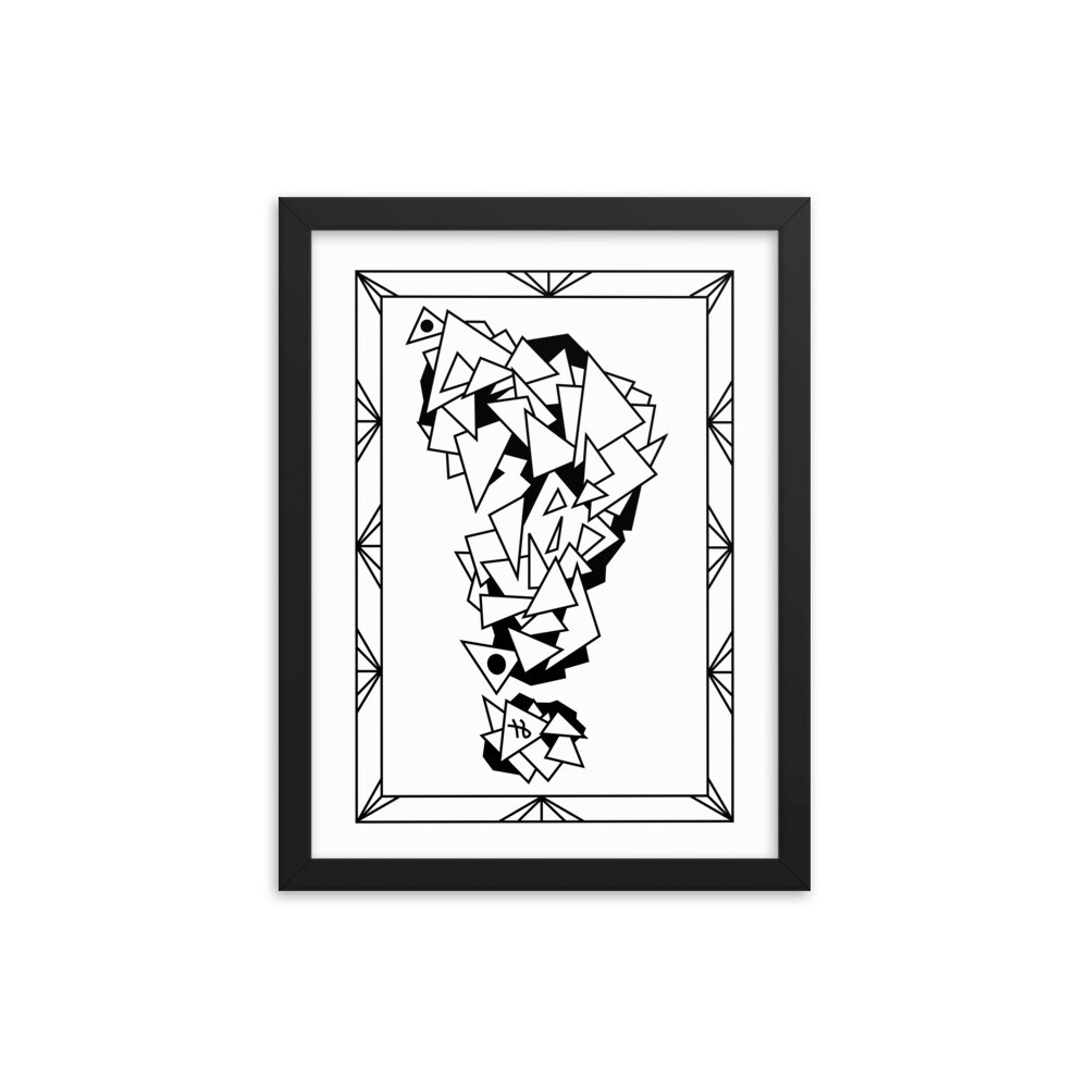 A Question of Angles Maze - Framed poster