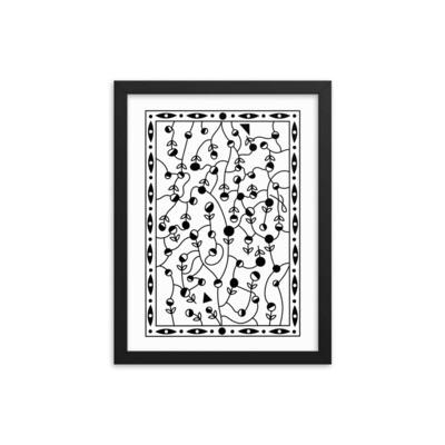 Flower Tangle Maze - Framed poster