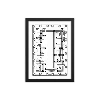 Pipeline Maze - Framed poster