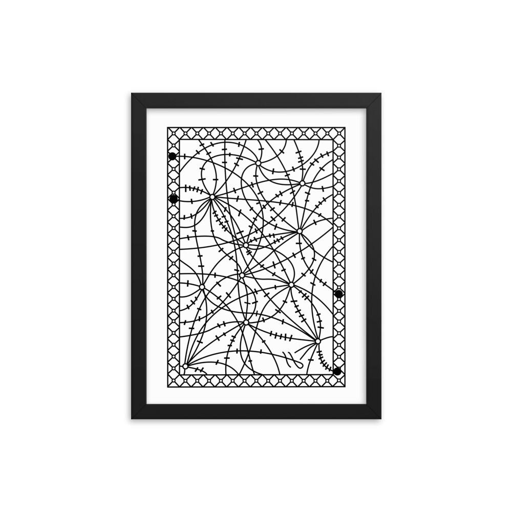 Barbed Wire Maze - Framed poster