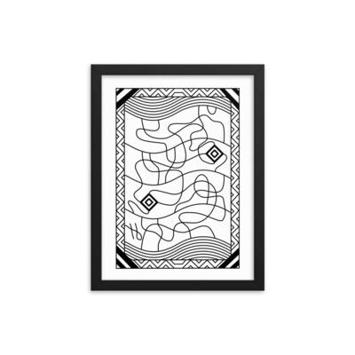 Fine Lines Maze - Framed poster