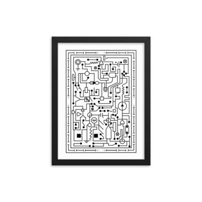 Solder On Maze - Framed poster