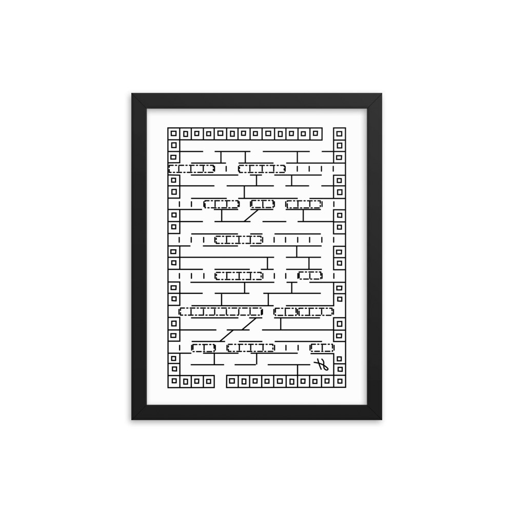 Traffic Jam Maze - Framed Poster