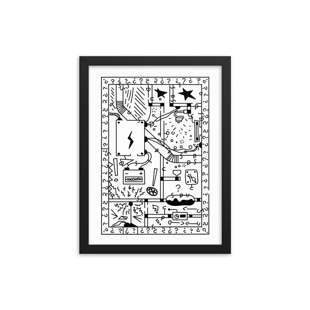 Electrifying Maze - Framed poster