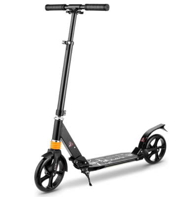 Caroma Scooters for Adults, Kick Scooter with Dual Suspension System, 8inch Big Wheels, 220LB Weight Limit, Quick-Release Folding System, Scooters for Teens 12 yrs and Up