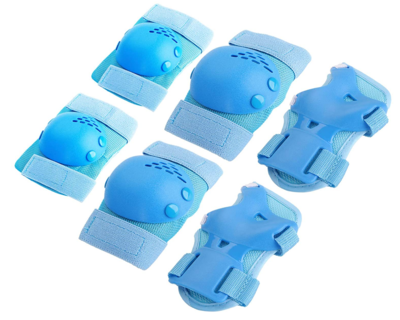 TOPZEA 6Pcs Kids/Youth Knee Pad Elbow Pads Protective Gear Set for Roller Skating Cycling Skateboarding, Elbow and Knee Pads Guards Protection Set for Children's Outdoor Sports (Blue)