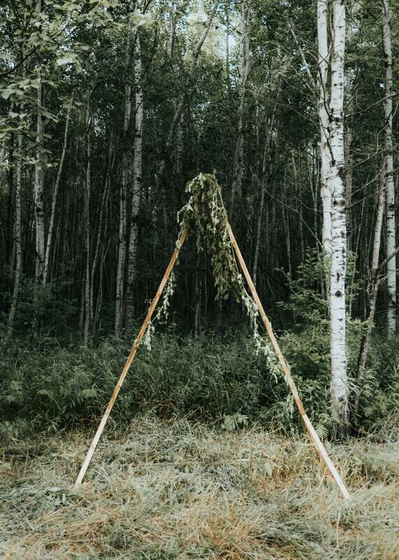 Wooden  Triangle Arbor
