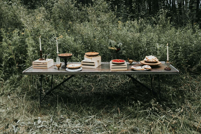 Vintage Metal Folding Table