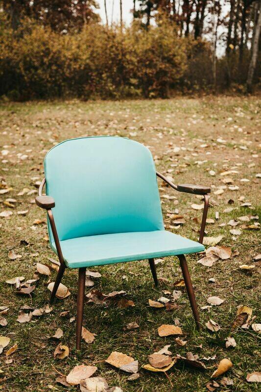 Blue Retro Chair