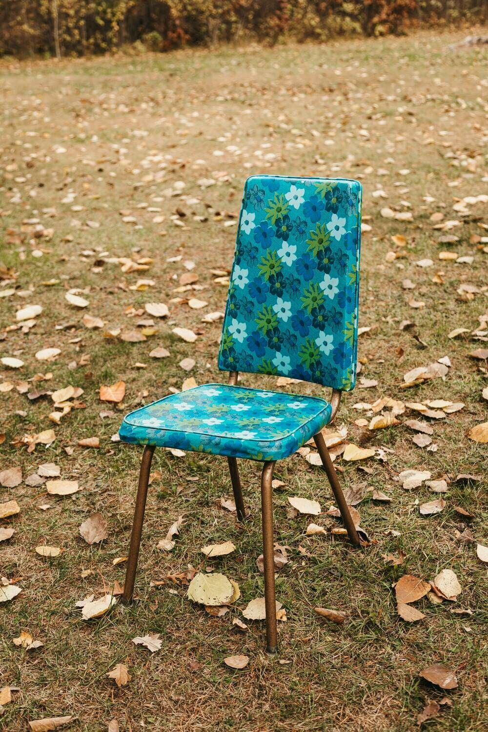 Blue and Green Floral Chairs