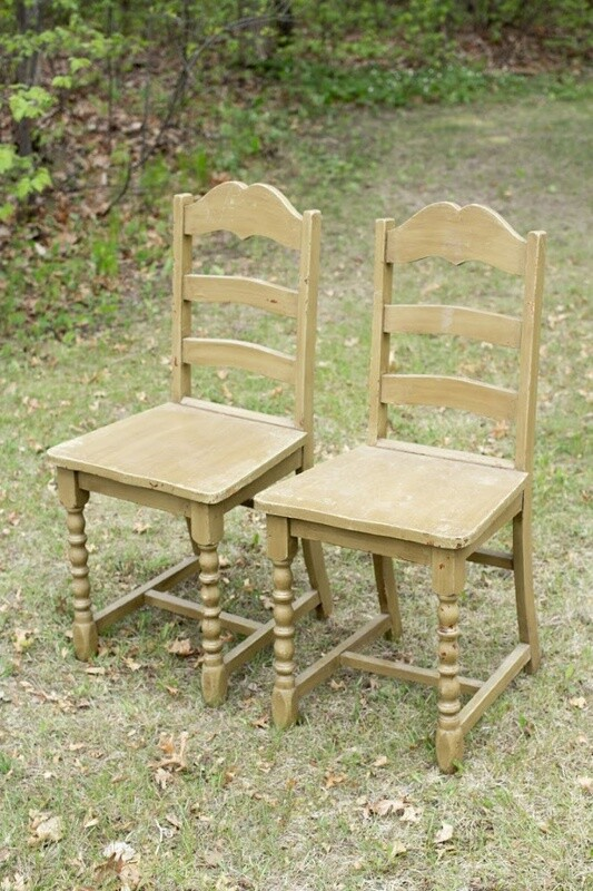 Green Wood Chairs