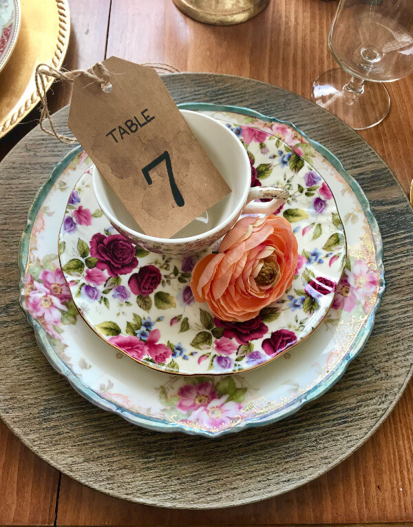 Tea Stained Table Numbers
