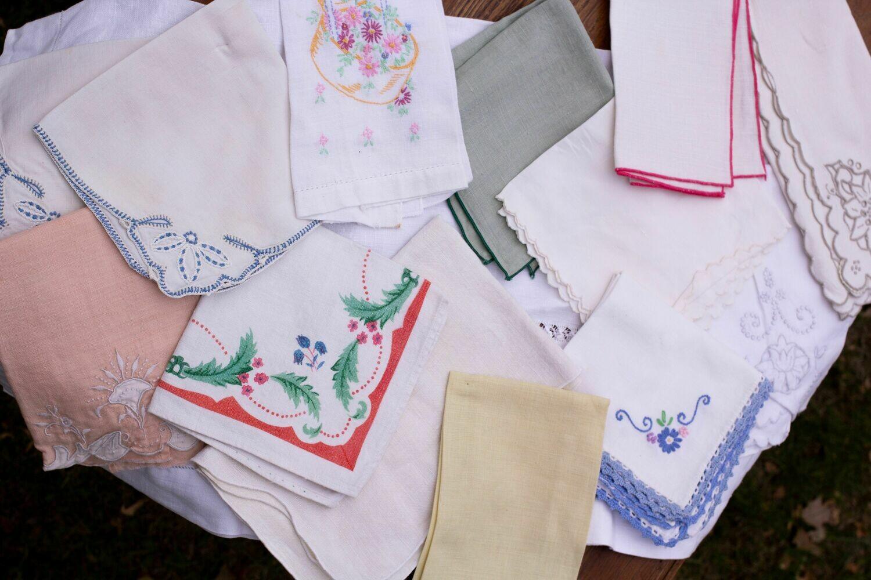 Vintage Linen Napkins