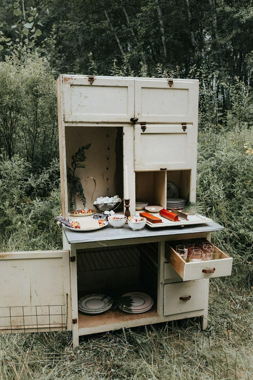 Vintage Kitchenette Hutch