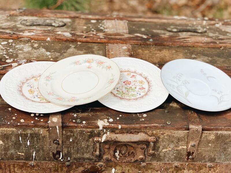 Vintage Dessert Plates and Saucers