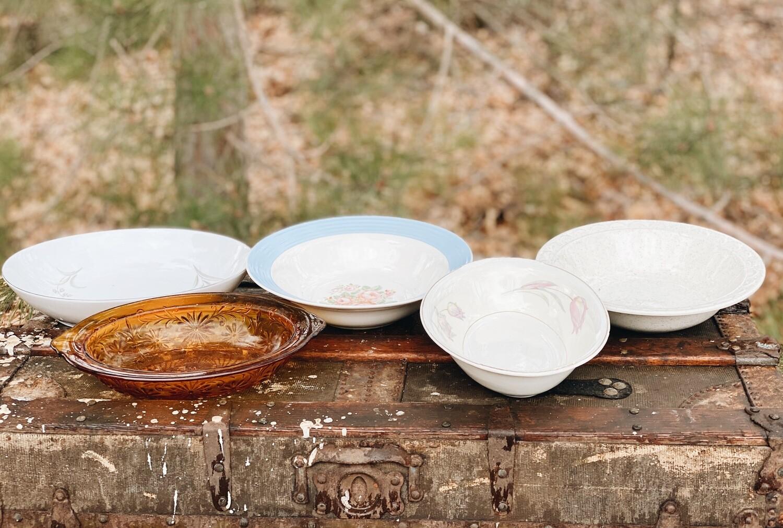 Large Vintage Serving Bowls