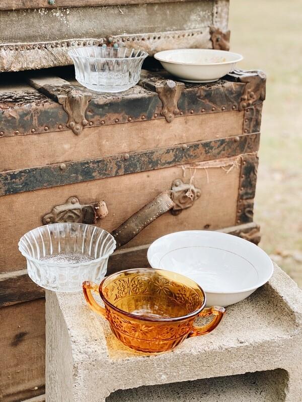 Small Vintage Dessert Bowls