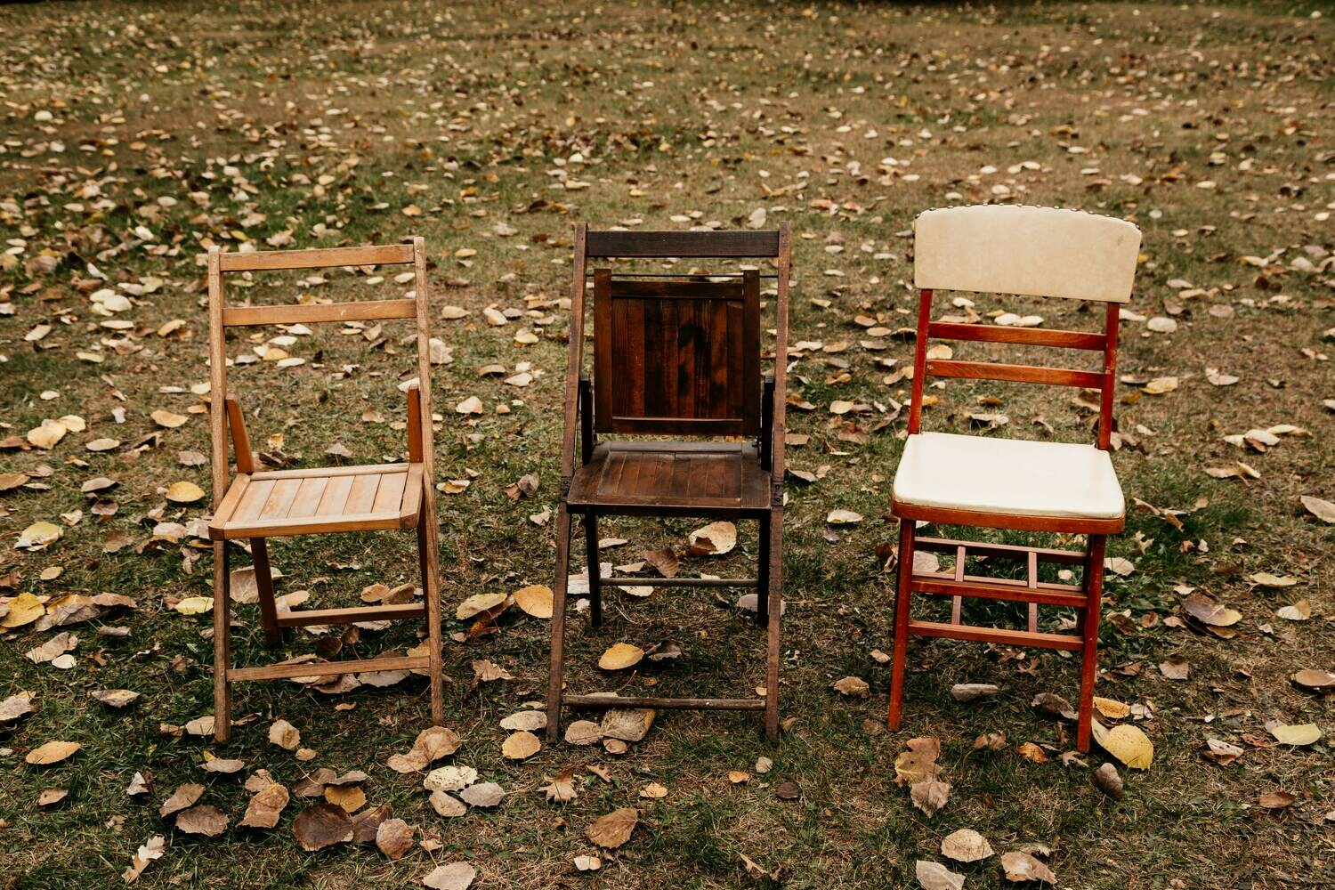 Assorted Wooden Folding Chairs