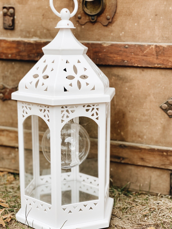 White Lantern with Lights