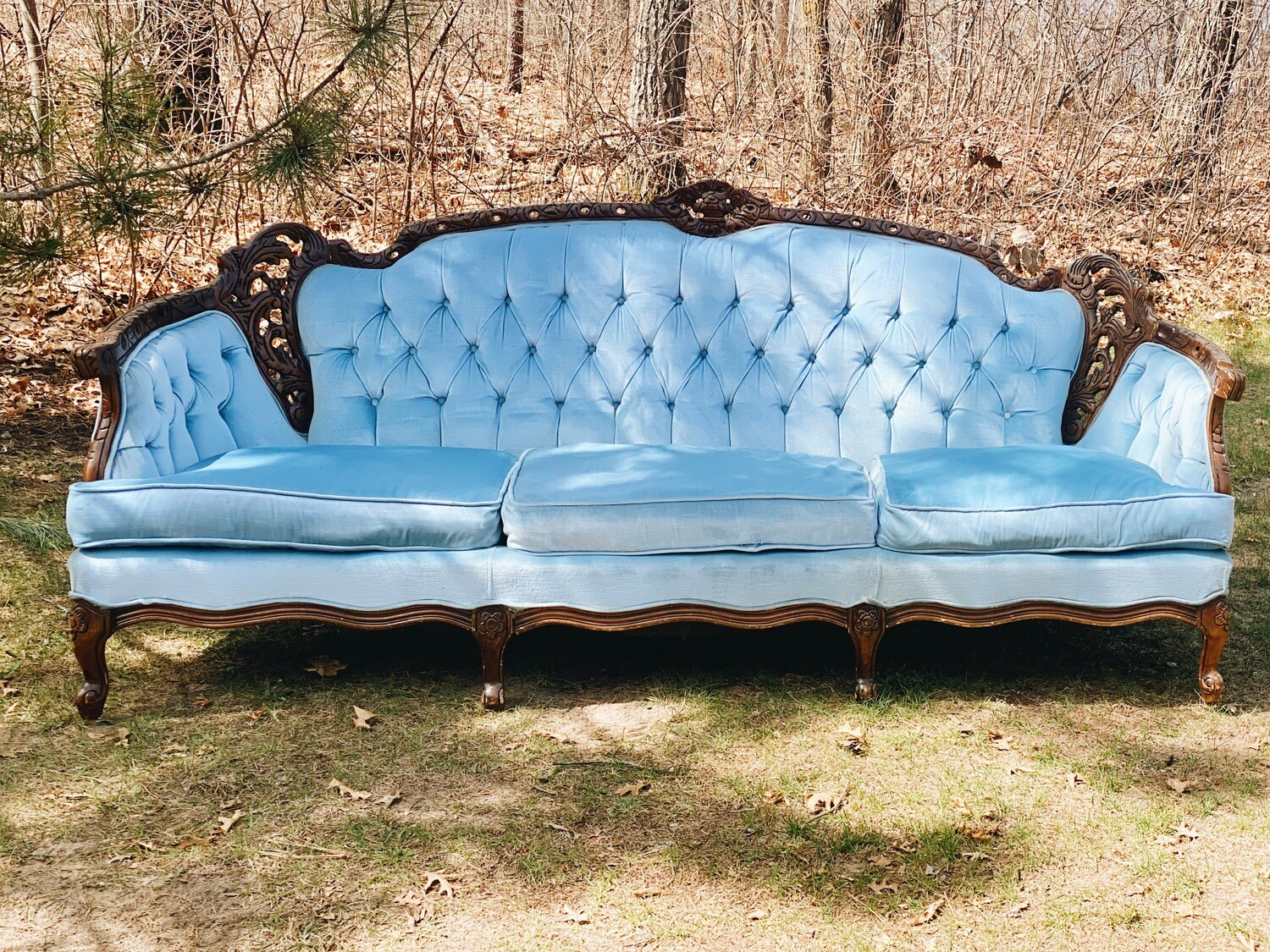 Blue Vintage Couch
