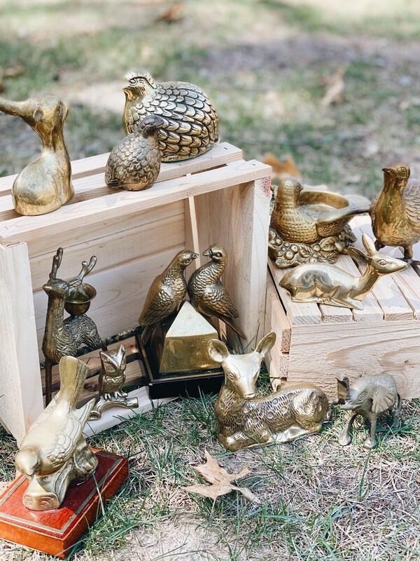Vintage Brass and Gold Animals