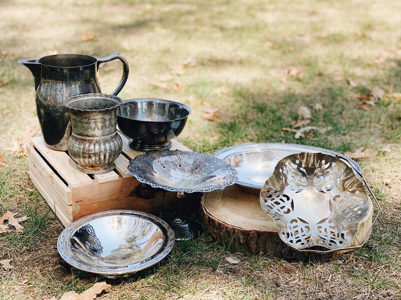Vintage Silver Serving Vessels