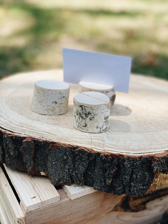 Birch Bark Card Holders