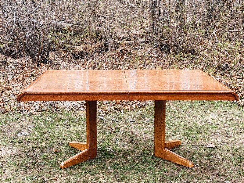 Rounded Edge Wooden Table