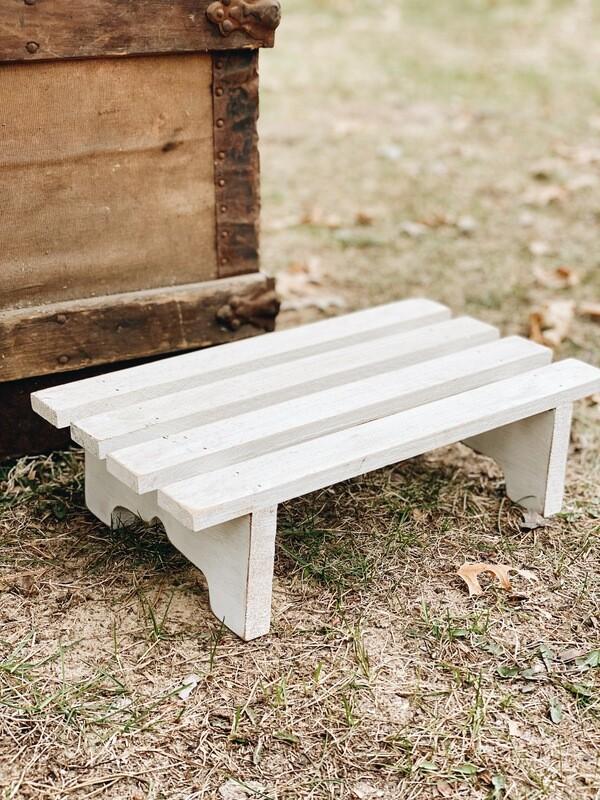 White Wooden Dessert Stand