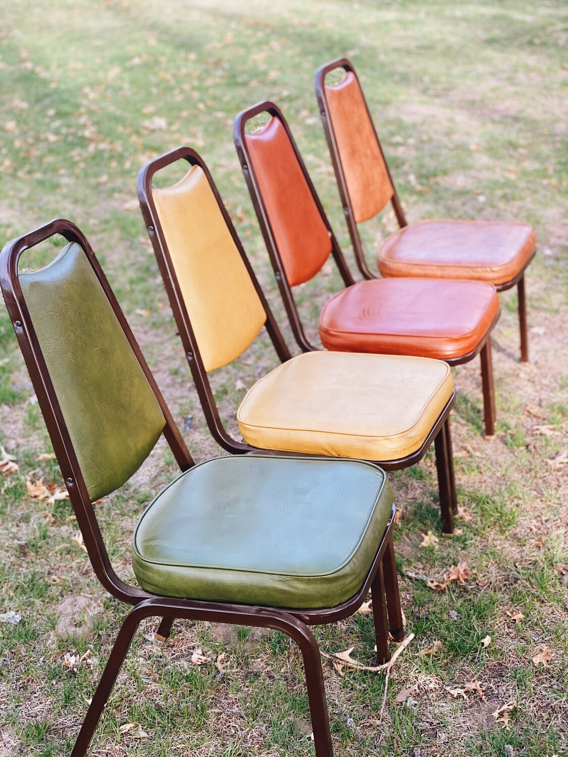 Retro Neutral Cushion Chairs