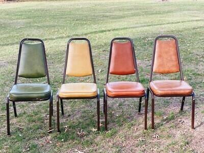 Retro Metal Cushion Chairs