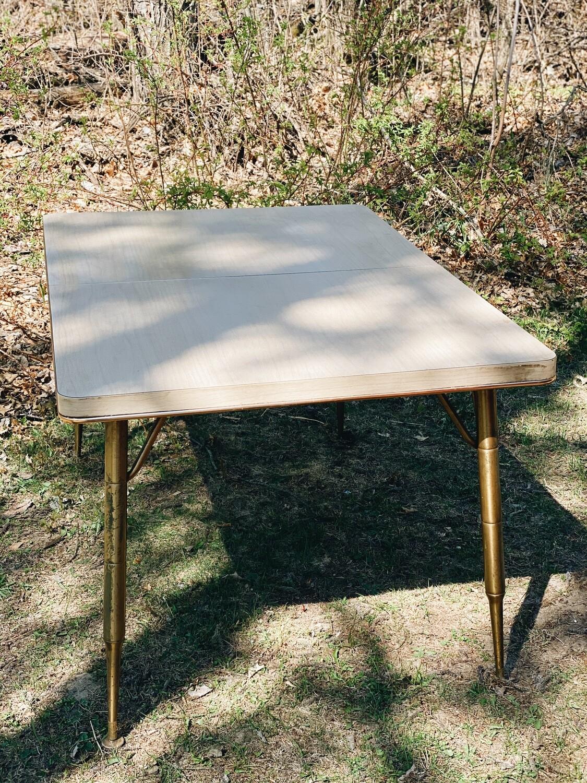 Retro Cream and Gold Table