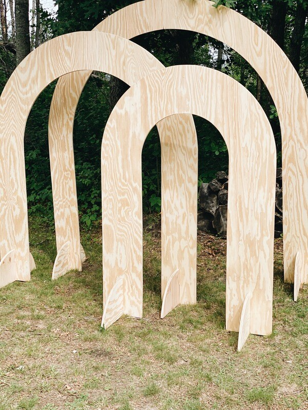 Natural Wood Arches