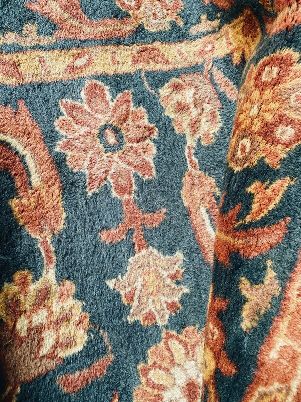 Teal and Rust Rug