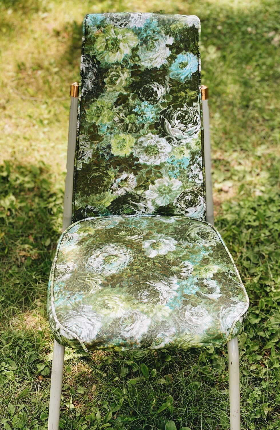 Green Floral Chairs