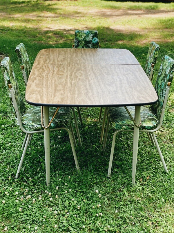 Retro Grey and Wood Table