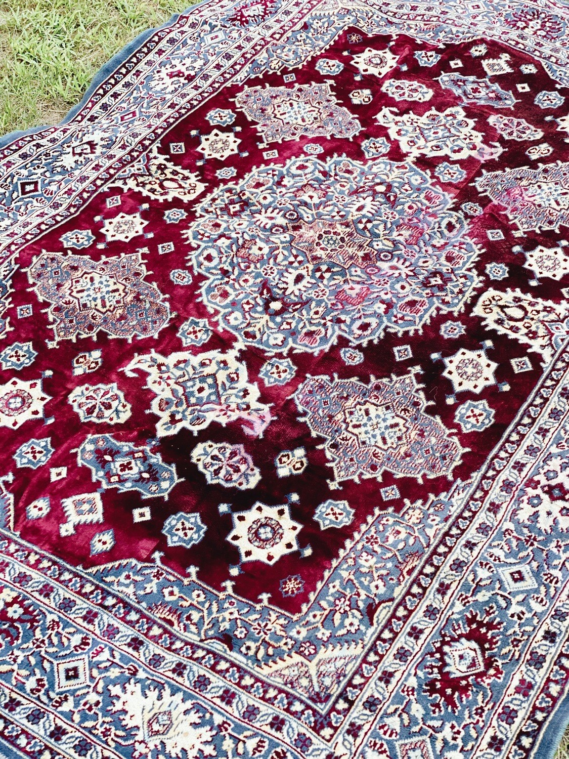 Maroon and Blue Rug