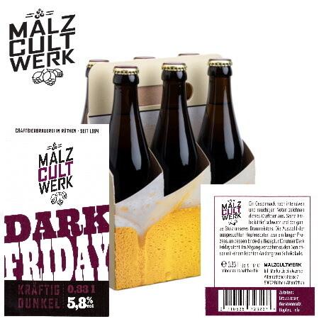 Sechserpack Dark Friday 6 x 0,33l